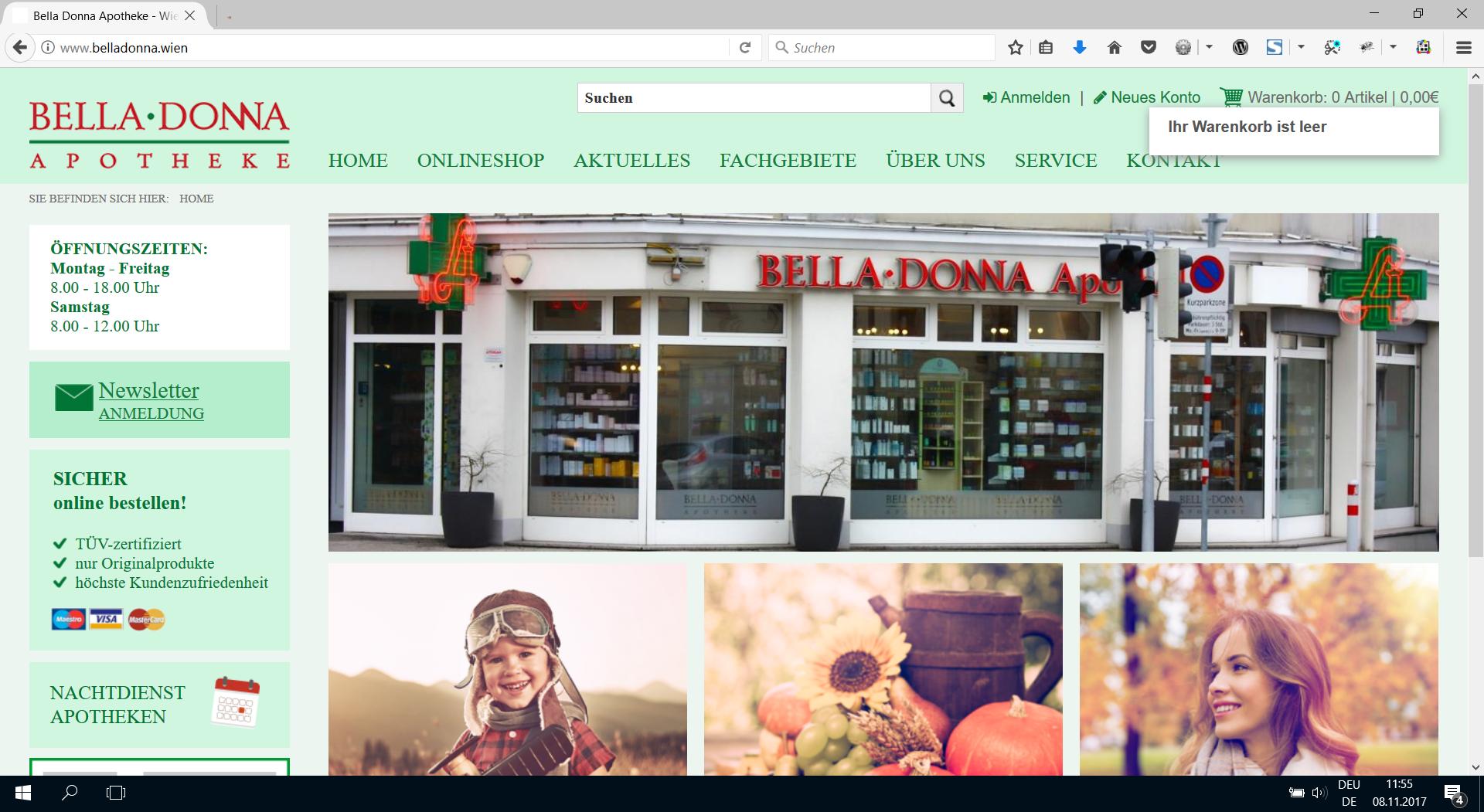 Webdesign www.belladonna.wien