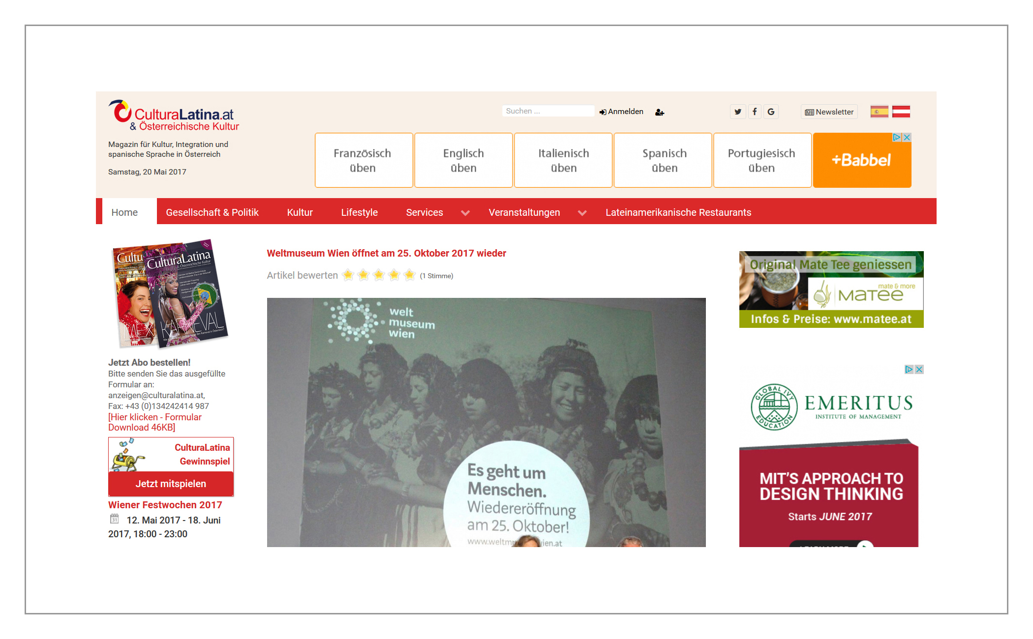 Onlinemagazin CulturaLatina