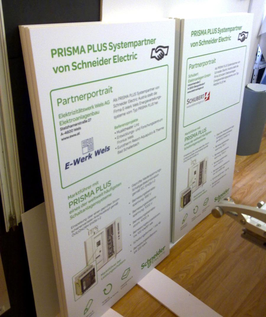 Druck Partnertafel Schneider Electric