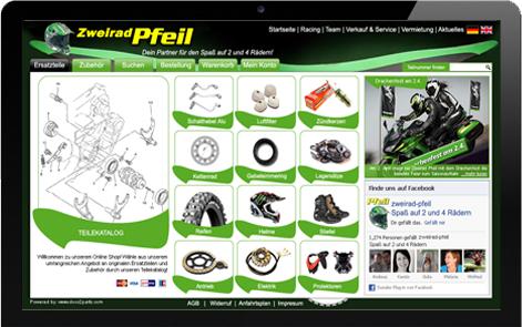 Webdesign Onlineshop Kawasaki Ersatzteile