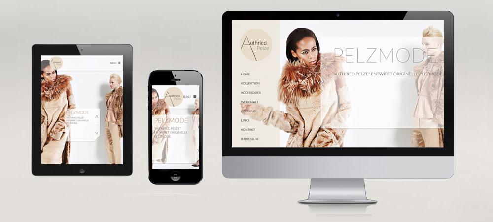Website Design & Programmierung Authried Pelze