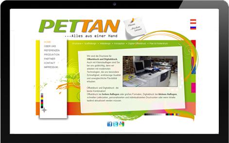 Webseite Pettan