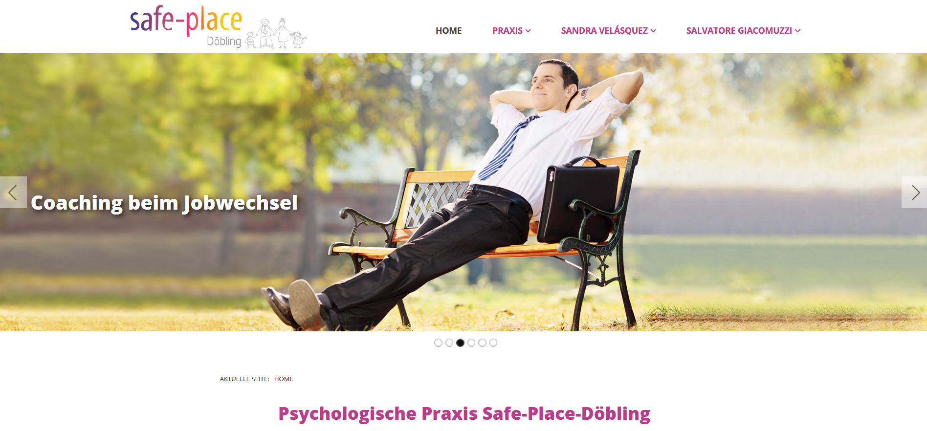 Website Praxis Safe-Place-Döbling