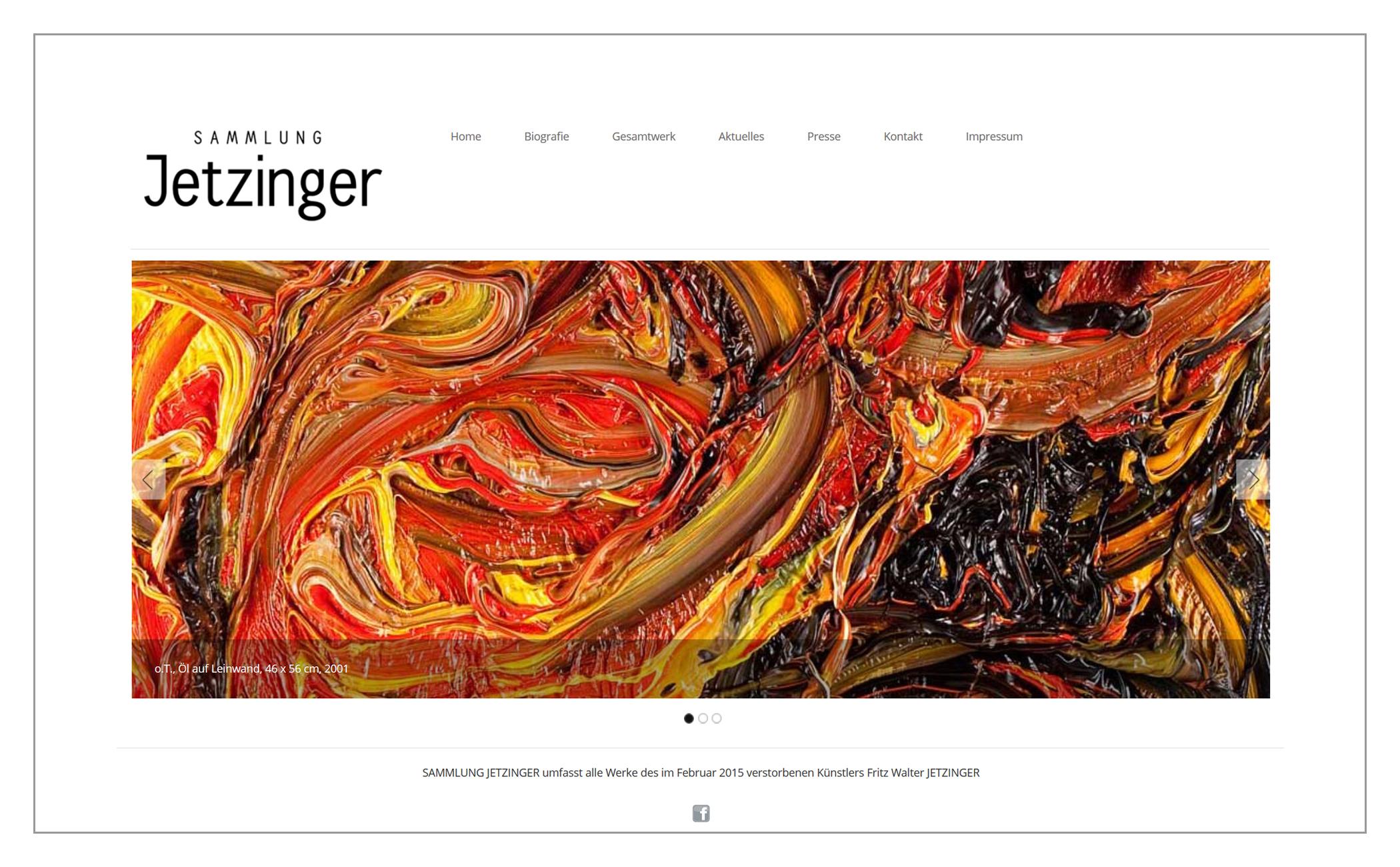 Website Sammlung Jetzinger | freiinsilvia